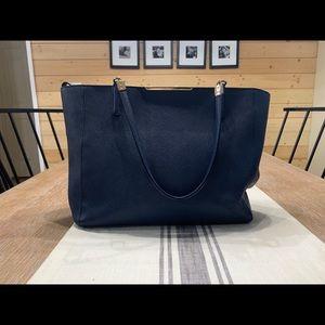 Navy coach tote purse